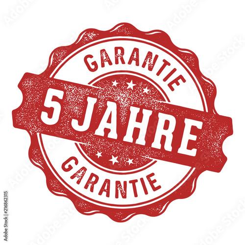 5 Jahre Garantie Vektor Siegel/Stempel Wallpaper Mural