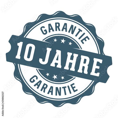 10 Jahre Garantie Vektor Siegel/Stempel Canvas Print