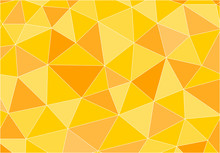 Yellow Polygonal Vector Background Vector Eps 10