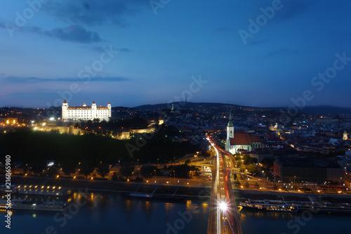Bratislava Slovakia river view Poster