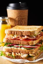 Thick Fresh Sandwich With Ham ...