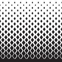 Geometric Degrade Motif In White And Black