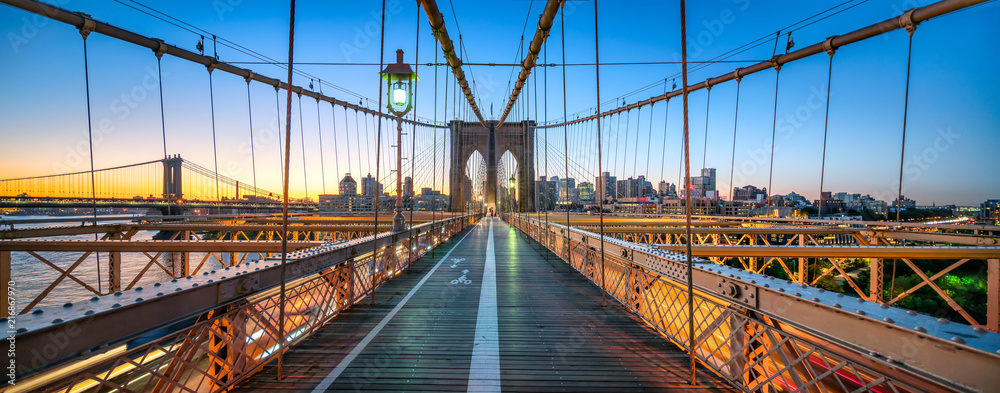 Fototapety, obrazy: Brooklyn Bridge Panorama, New York City, USA