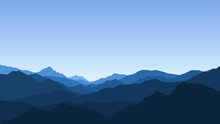 Landscape With Mountains, View, Nature, Mountain Range, Clear Sky