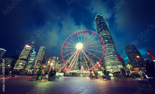Deurstickers Aziatische Plekken Observation Wheel, Hong Kong