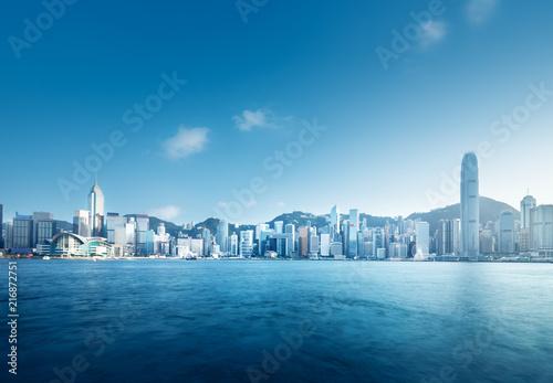 In de dag Aziatische Plekken Hong Kong harbour