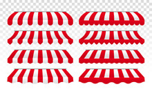 Awning Tents Vector Striped Is...