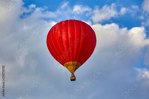 In de dag Ballon Zheleznovodsk. Airshow. Hot air balloon rides