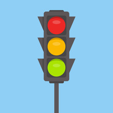 Traffic Light Isolated Icon. G...