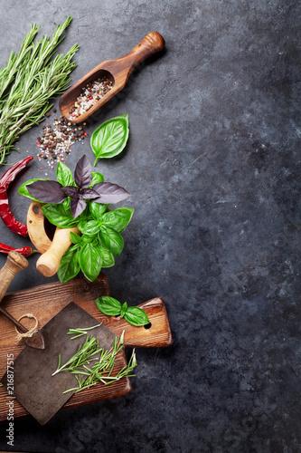 Fotobehang Aromatische Herbs and spices