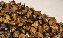 A Pile Of Stacked Firewood