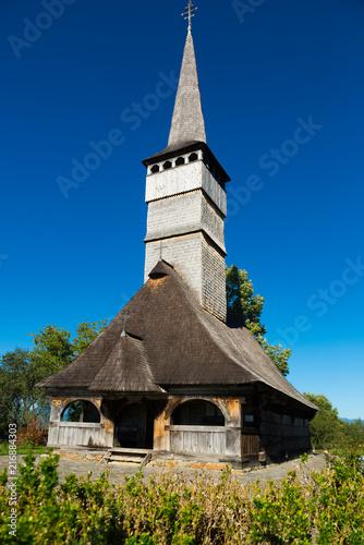 Foto op Plexiglas Europa The wooden church St. Archangels in Remetea Chioarului