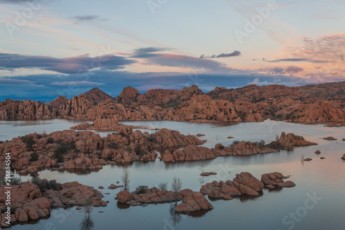 Scenic Watson Lake Sunset Prescott Arizona