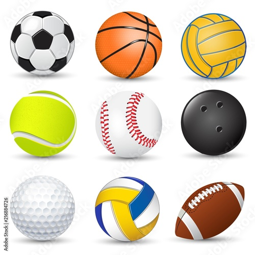 Sport game balls collection Plakat