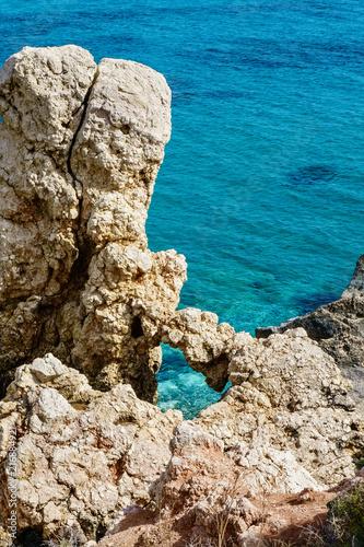 Foto op Canvas Cyprus Aphrodite's Rock beach near Cyprus island