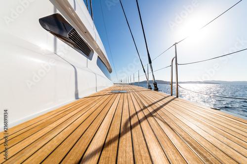 Photographie  pont de catamaran