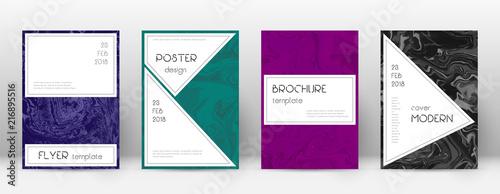 Obraz Abstract cover. Bizarre design template. Suminagashi marble stylish poster. Bizarre trendy abstract  - fototapety do salonu