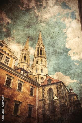 stary-kosciol-katolicki-w-niemczech-grafika-stylizowana