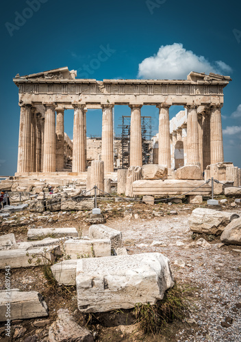 Keuken foto achterwand Athene Parthenon on the Acropolis of Athens, Greece