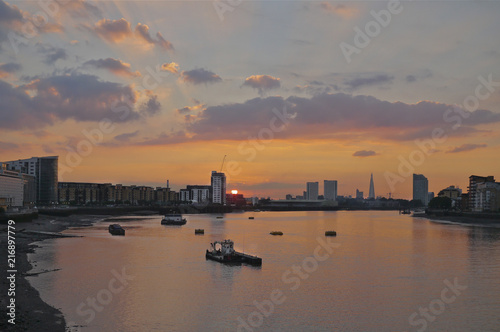 Fotografie, Obraz  Sunset on the Thames from Greenwich