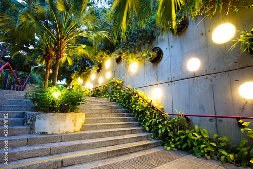 Keuken foto achterwand Aziatische Plekken Gardens by the Bay at Dusk, Singapore
