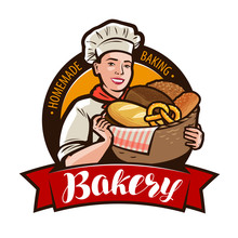 Bakery, Bakeshop Logo Or Label...