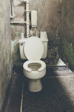 Dirty Old Public Toilet