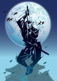 忍者01 城と月