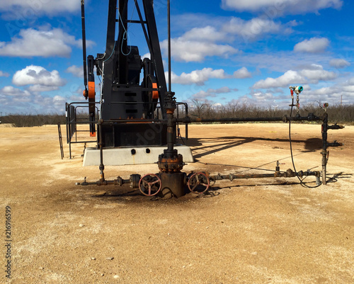 West Texas Well on Pump Jack - Buy this stock photo and explore