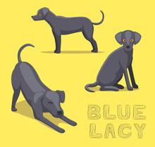 Dog Blue Lacy Cartoon Vector I...