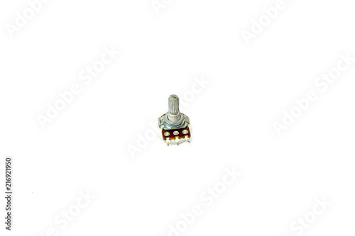 Keuken foto achterwand Spa Variable resistor isolated on white background