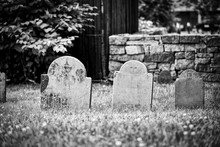 Very Old Cemetery With Weather...
