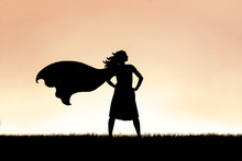 Strong Beautiful Caped SuperHe...