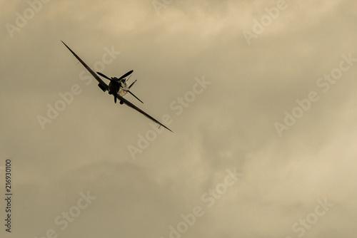 Fototapeta Spitfire flying towards the camera
