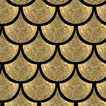 Gold Fish Scale  Geometrical V...