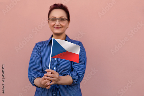 Photo  Czech flag