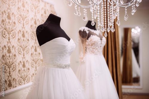 Wedding Dresses in dress store.vWedding shopping Poster