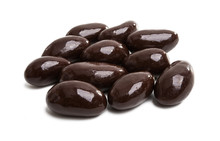 Nuts In Glaze Isolated