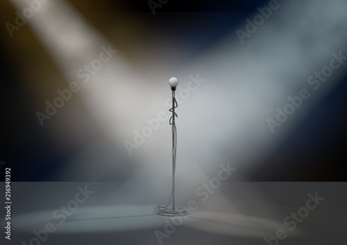 Microphone Stand On Stage