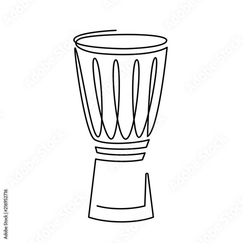 continuous line drawing of Snare Drum vector icon  Musical
