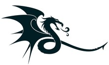 A Symbol Of The Stylized Drago...