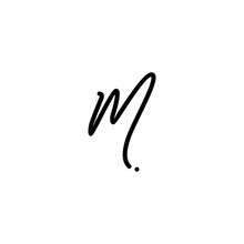 M Letter Signature Handwriting Logo