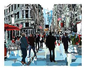 Fototapeta Nowy York Steet in New York city