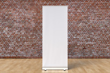 Blank Roll Up Banner Display Stands Loft Interior