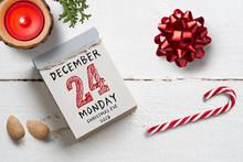 Tear Off Calendar With 24th Of...
