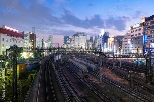 Foto op Aluminium Kuala Lumpur 池袋 線路と街並み 夜景