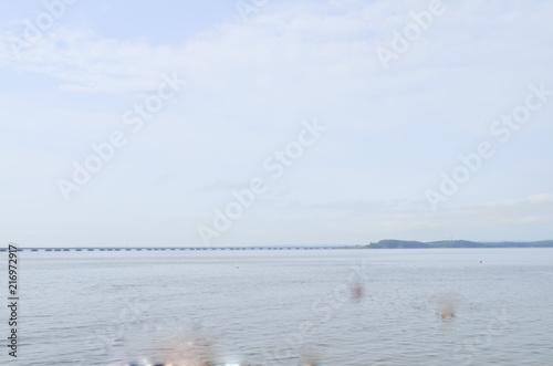 Poster Mer / Ocean Vladivostok, view of the De Friz - Sedanka Low - level bridge