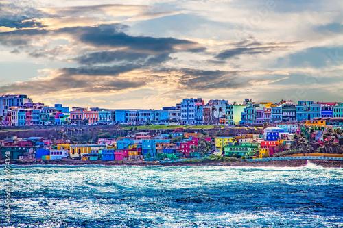 Photo  Colorful Village on Coast of San Juan