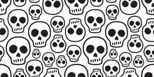 Skull Seamless Pattern Vector ...