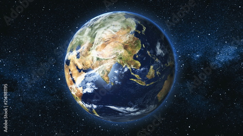 realistic-earth-planet-rotating-on-its-axis-in-space-against-the-background-of-the-milky-way-star-sky-astronomy-and-science-concept-continents-and-oceans-elements-of-image-furnished-by-nasa
